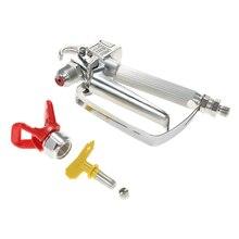 цена на High Pressure Airless airbrush Paint Spray Gun With 517 Spray Tip Nozzle Guard Pump Sprayer Airless Spraying Machine power tool