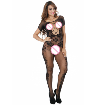 Women Sexy Lingerie Nightwear Open Crotch Fishnet Hollow Body Stocking Bodysuit Underwear Net Sex Products Costumes Hot Erotic hot sexy lace neck fishnet body stocking sexy lingerie nets clothings sex costumes black mesh fishnet open crotch bodystocking