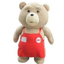 En kaliteli 48 Cm TED ayı bebek orijinal yumuşak oyuncak ayı dolması Doll peluş hayvanlar peluş bebekler bebek doğum günü hediyesi çocuk oyuncakları