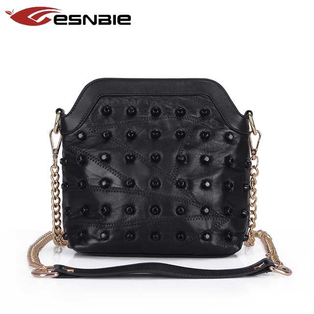 Women Genuine Leather Bag 100% Real Sheepskin Messenger Bags Handbags Women Famous Brands Designer Female Handbag Shoulder Bag