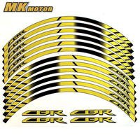 For HONDA CBR General purpose motorcycle wheel decals Reflective stickers rim stripes CBR