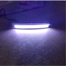 2Pcs 15.5cm Universal COB DRL LED Daytime Running Lights Car Lamp External Auto Waterproof Styling Led