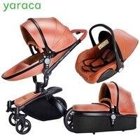 Детские коляски 3 в 1 автокресло зрения коляска для новорожденных складной коляски 360 градусов вращения путешествия Системы детские сумка н