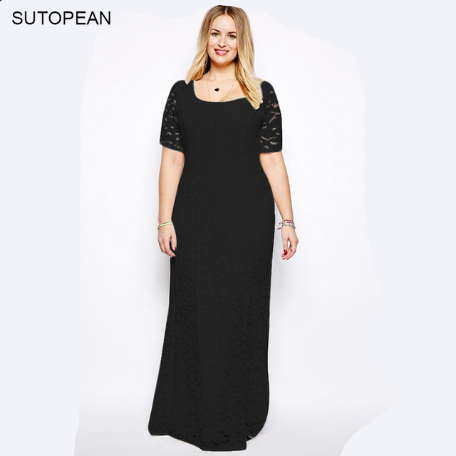 3a3f16a61cb7 SUTOPEAN Plus Size XL-9XL Lace Dress For Fat MM Plump Overweight Women  Clothes Elegant Dress Short Sleeve 5 Colors Robe Jurken