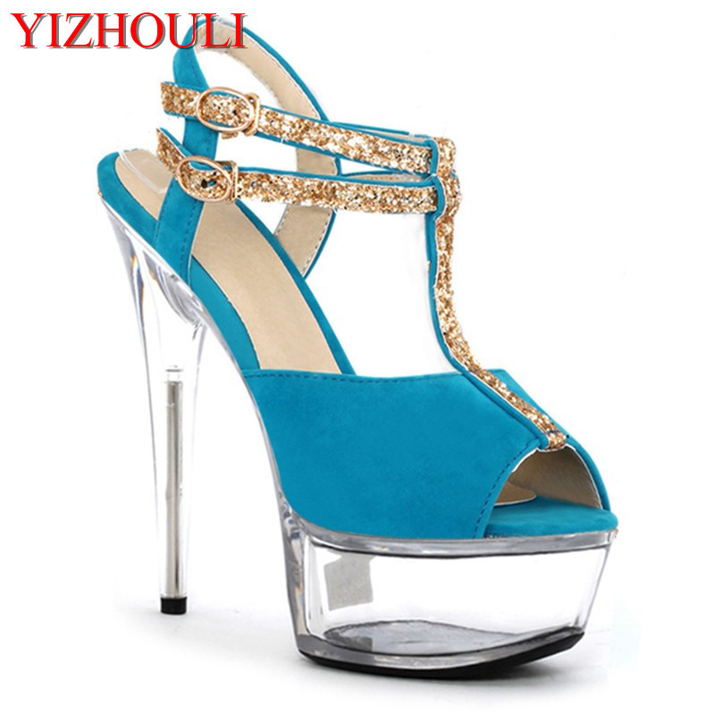 New Year summer new womens shoes, zi T bandage with flash powder, womens shoes, new fish-mouth Dance Shoes