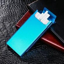Ultra Thin Fashion Pipes Creative Personality Cigaret Case Slim Metal Slider