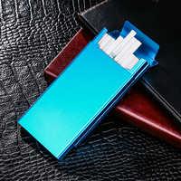 Ultra mince mode tuyaux personnalité créative étui à cigarettes mince métal curseur boîte à cigarettes en aluminium boîte-cadeau étui à cigarettes
