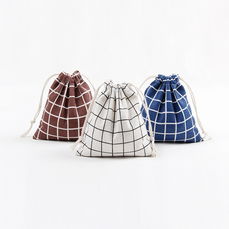 3pcs Portable Drawstring Bags Cotton Handbag Storage Bags Travel Makeup Bag Clothing underwear Shoes Pouch kids toy Storage(China)