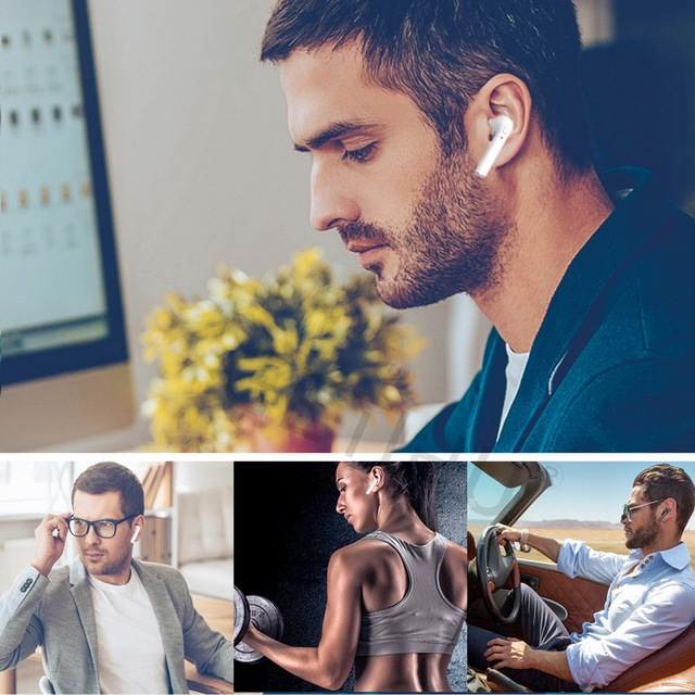 Wireless Mini Earphones Earpiece For iPhone Samsung stereo Bluetooth Earphone Headphones Phone Sport Headset in Ear Buds
