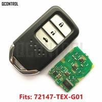 QCONTROL Car Remote Smart Key Fit For Honda 72147 TEX G01 City Jazz XRV Venzel HRV