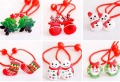 A Pair Lvely Children's Hair Accessories Baby Headdress Cartoon Series Christmas Santa Claus Hair Rope Rubber Headdress
