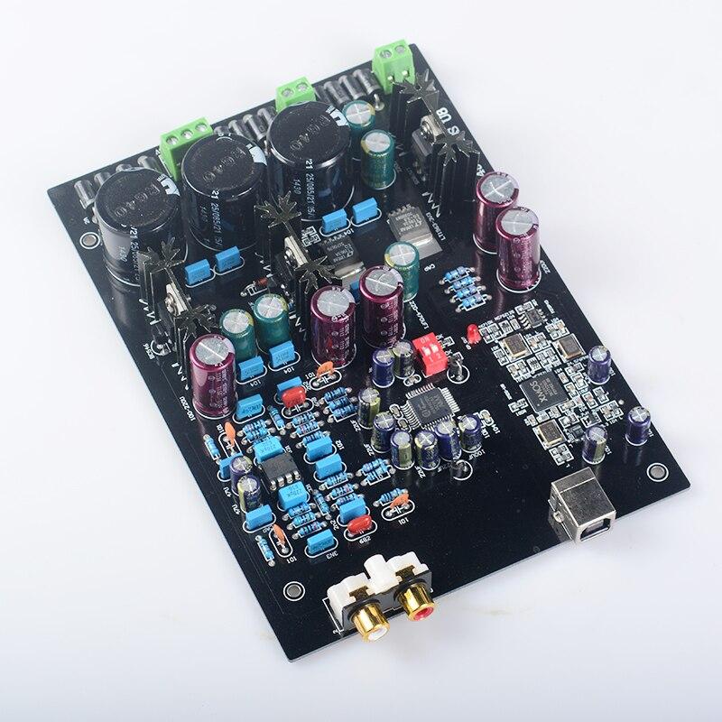 K. GUSS Montiert XMOS U8 + AK4495SEQ + AD827 LT1963 USB DAC decoder board Unterstützung 32BIT 768 Karat LT1963-3.3 audio verstärkerplatine