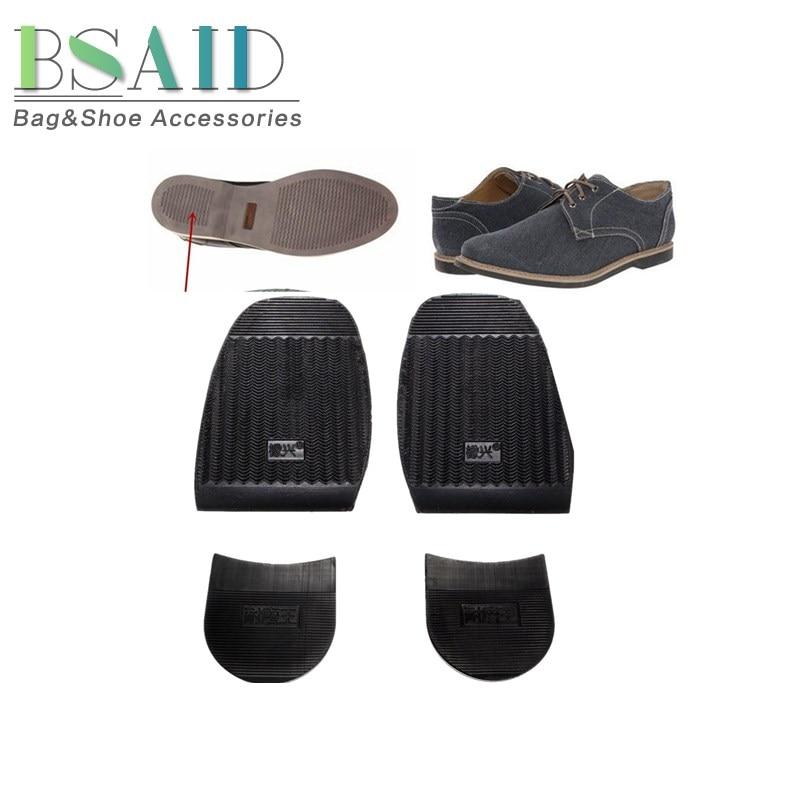 BSAID 1 Pair On Shoe Soles Repair Outsoles Rubber Non-slip Men's Shoe Forefoot DIY Stick Soltrack  Business Leather Shoes/Boots