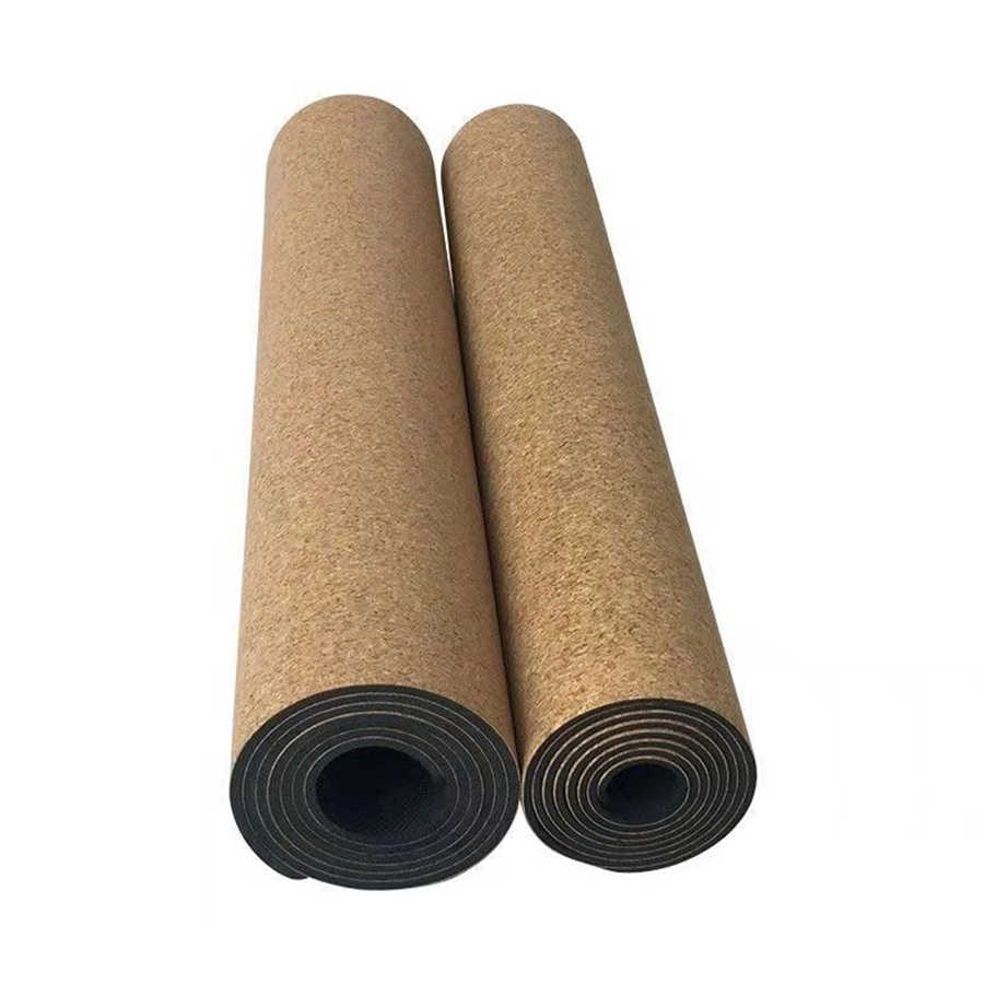 Yoga mat, fitness, high temperature, cork, natural rubber, anti-skid, wear-resistant(There are minor flaws.)