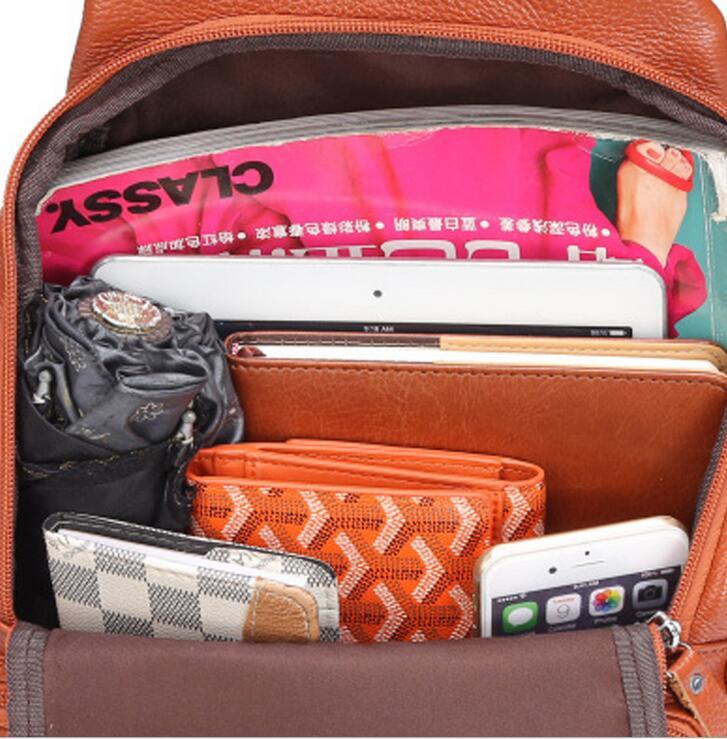 bolsa de couro genuíno mochila Material Principal : Couro Genuíno