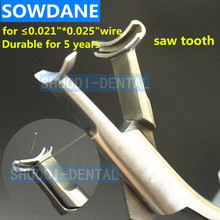 Promotion Dental Orthodontic Lingual Wire NiTi Cinch Back Plier Instrument with 1/3 Golden Handle