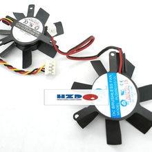 HZDO PLD05010S12L 12 В 0.10A 45 мм 2Pin 3 провода кулер для MSI GT440 Вентилятор охлаждения