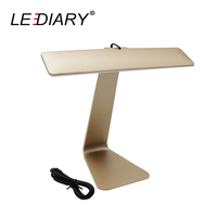 LEDIARY Utralthin Dimming LED Desk Lamp Rechargeable USB 5V Eye Protection Table Lamps Touch Control Student
