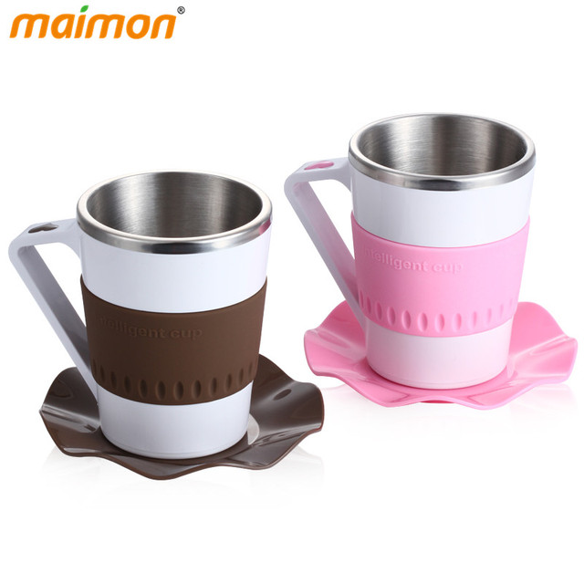 Intelligent Led Temperature Heat Display Coffee Mug Cup Home Office Stainless Steel For Water