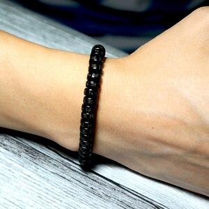 Image 5 - Noter Minimalist Male Wood Bracelet Yoga Meditation Prayer Jewelry Accessories Men Punk Braslet Buddha Runes Braided Braclet