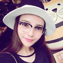 Newest Trend Retro Superstar Alloy Half Style Eyewear Frame Men Women Optical Eyeglasses Computer Glasses Spectacle Frame Oculos