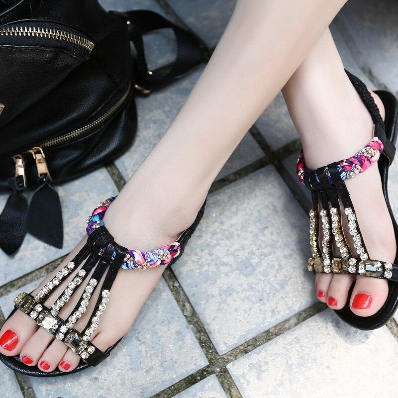 Exquisite weibliche Sandalen Schuhe mit Mode Schuhe Gold Silber - Damenschuhe - Foto 5