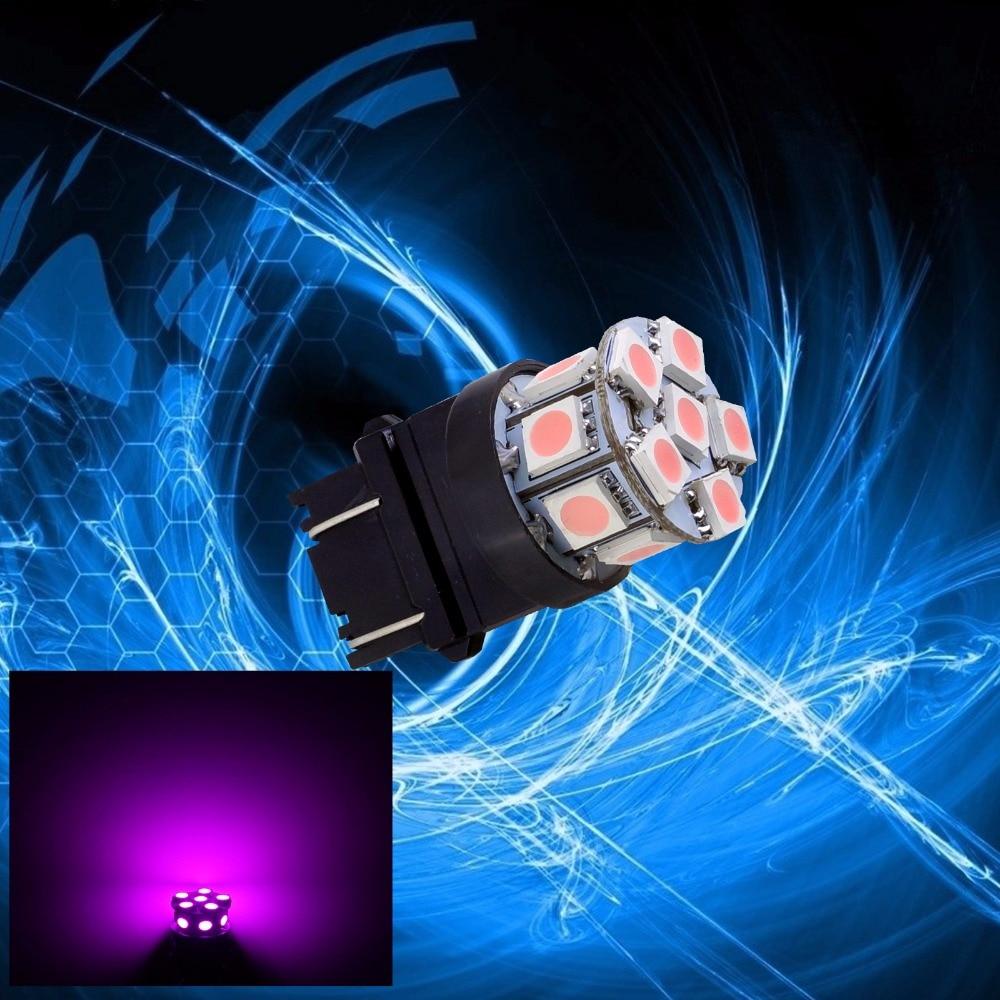 PA LED 10 pièces x 3157 13SMD 5050 rose LED Auto voiture haut montage frein lumière 12 V