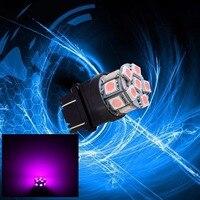 PA LED 10PCS x 3157 13SMD 5050 PINK LED Auto Back Car High Mount Brake Light 12V