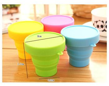 Hot colours Portable Silicone Retractable Folding Cup Telescopic Collapsible Outdoor Sports Camping travel mug