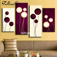 FULLCANG Full Square Diamond Embroidery Abstract Balloon Diy 4PCS Diamond Painting Cross Stitch 5D Mosaic Home