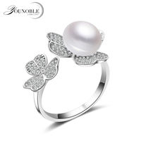 Real Freshwater Pearl Ring New Style Gift For Women Natural Pearl Ring 925 Sterling Silver Ring