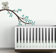 Kids Wall Decal Koala Bear Tree Branch Wall Sticker DIY Wall Decor Mural For Baby Bedroom Tree Branch Decoration Mural NY-200 стоимость