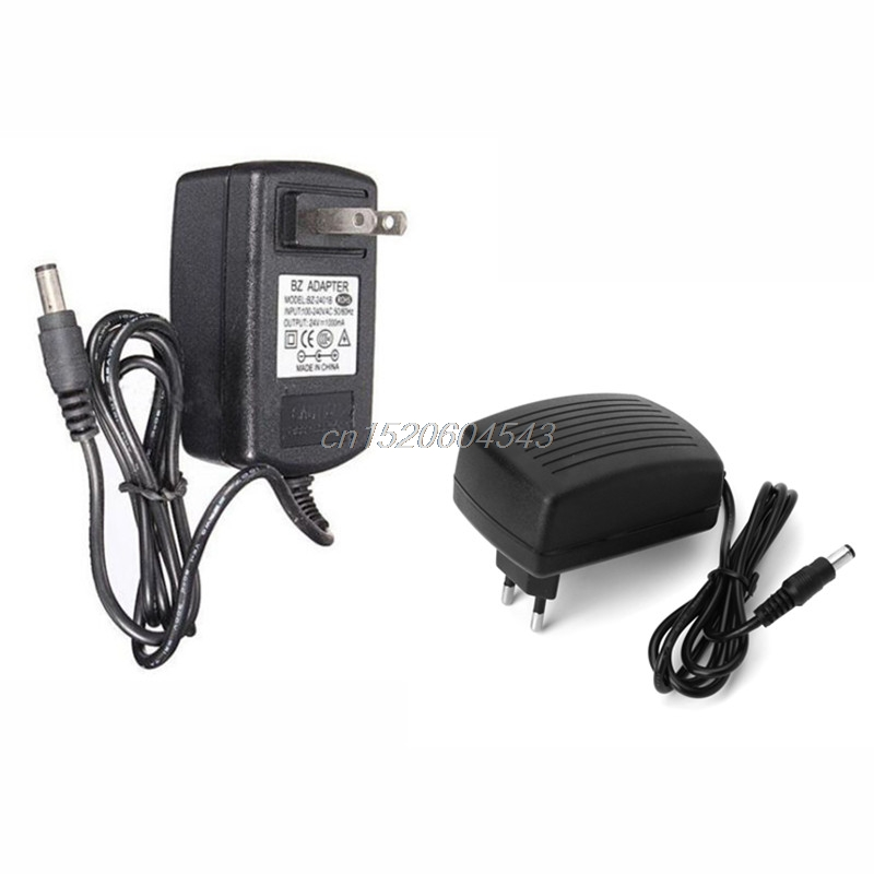 DC <font><b>24V</b></font> 1A <font><b>AC</b></font> <font><b>Adapter</b></font> Charger Power Supply for LED Strip Light CCTV 2.5mm*5.5mm EU/US Plug R02 Drop ship image