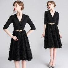 European and American High-end Womens Ladies Temperament Dress Small Black underwear free gift
