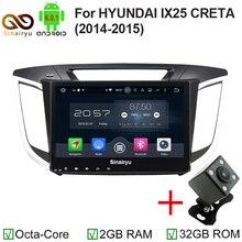 Sinairyu 10.1″ Android 6.0 Octa Core 2G+32G car radio DVD Player GPS Navi For HYUNDAI IX25 2014 2015 2016 Support 4G LTE DVR