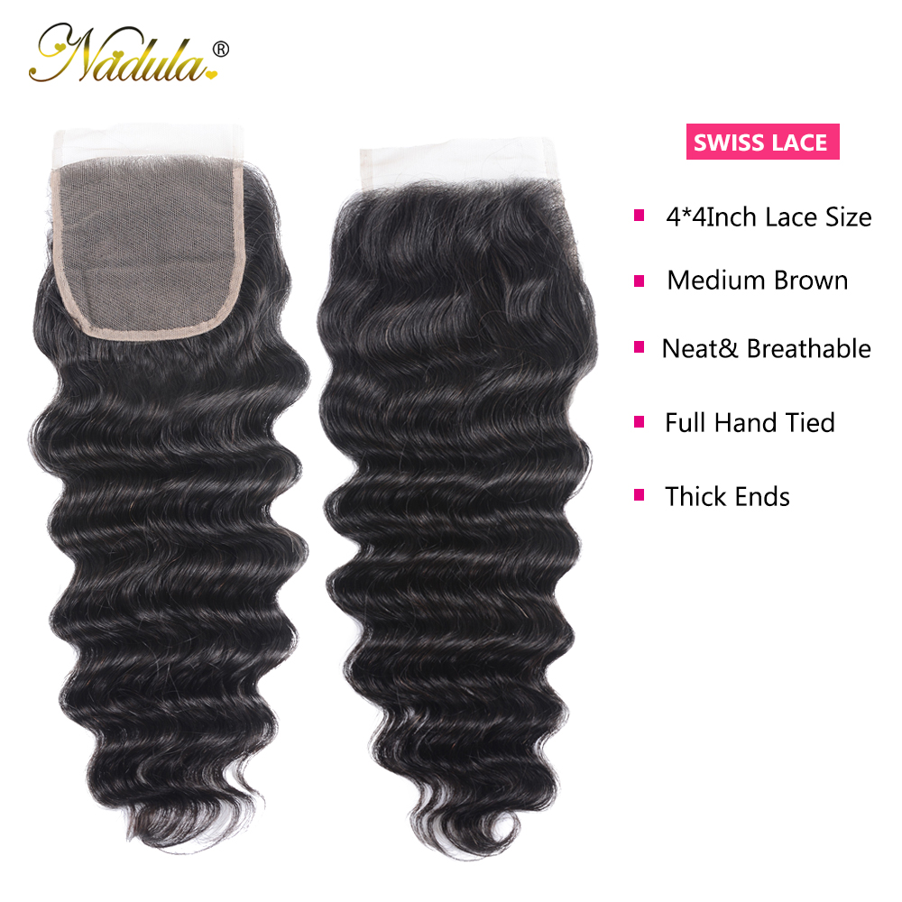 Nadula Hair Loose Deep Bundles With Closure    Bundles With Closure  Hair Bundles With Closure 4