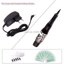 Chuse Tattoo Machines K03 Black Professional Permanent makeup eyebrows pen cosmetic Machine Complete tattoo kits  pmu
