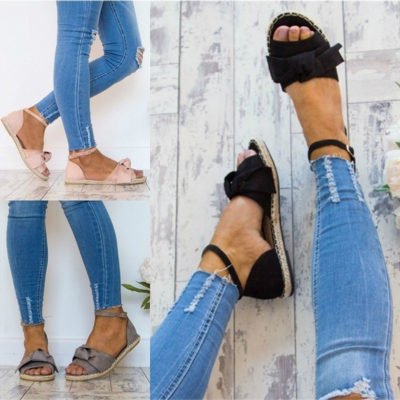 2018 Shoes Woman Bandage Summer Female Casual Low Heels Ankle Strap Women Fashion Sandals Mujer Sandalias women sandals fashion low heels sandals for summer shoes woman ankle strap flats sandals shoes soft bottom casual shoes 35 44
