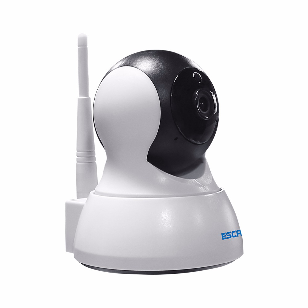 Escam 720P QF007 Indoor Network WIFI IP Camera infrared support P2P IR-Cut H.264 Pan/Tilt Wireless Alarm Camera MAX 64GB SD CARD practical eye sight es ip909iw wifi h 264 p2p ip camera with built in microphone support 32g sd card