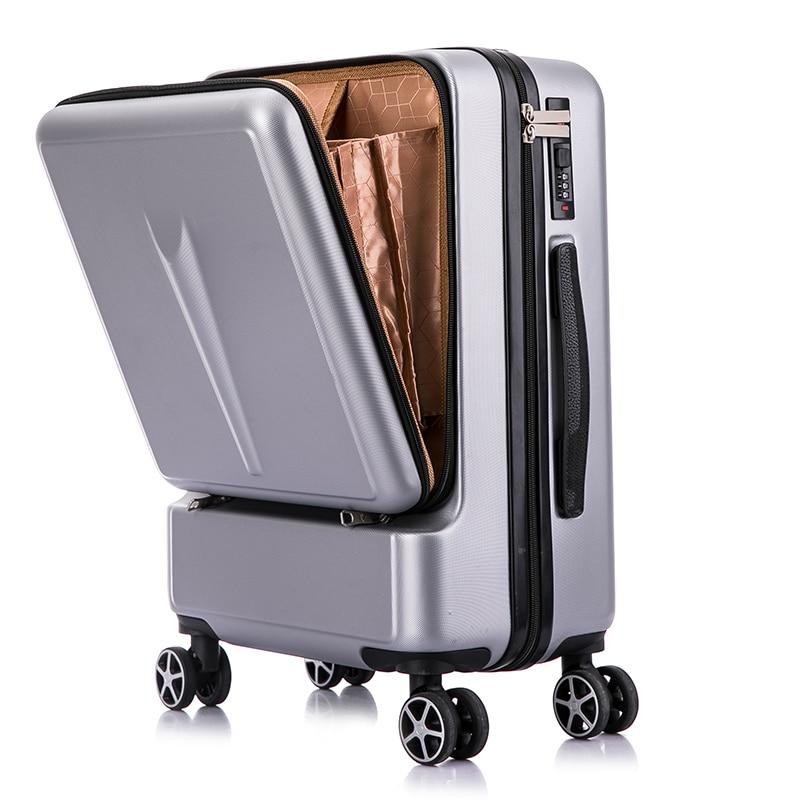 """20 """"24"""" Zoll Frauen Roll Gepäck Reise Koffer Koffer Mit Laptop Tasche, Männer Universal-rad Trolley Pc Box"""