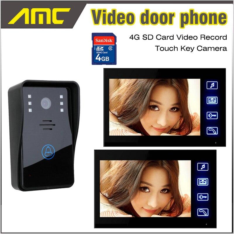 ₪<b>7</b> дюймов ЖК-дисплей Экран видеодомофон <b>видео</b> дверь ...