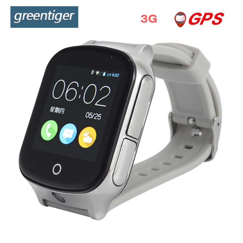 Greentiger GPS 3G A19 Smart Kids Watch WIFI SOS LBS Camera child smartwatch Locate Finder emergency