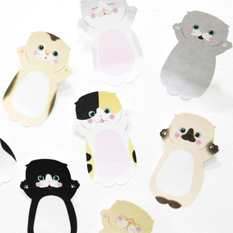 Mini Cat N Times Memo Pad Sticky Notes Cartoon Animal Bookmark Stationery Label Stickers School Supplie Notepad Escolar