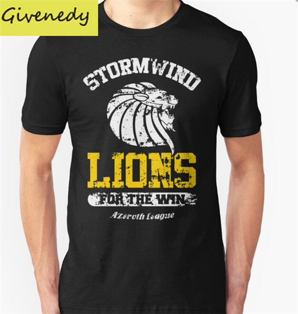 Hot sale Lions For The Win!! Printed Mens T Shirt Fashion 2018 New summer style Short Sleeve O Neck Cotton T-shirt plus size