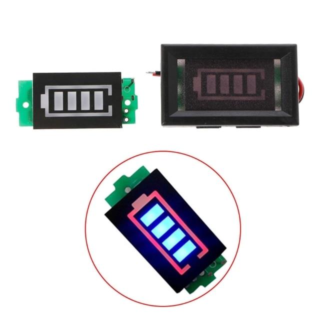 1S singolo livello di potenza 3.7V batteria al litio capacità modulo indicatore Display blu