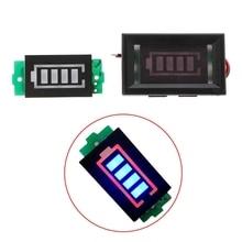 Módulo indicador de pantalla azul, capacidad de batería de litio, nivel de potencia de 3,7 V, 1S