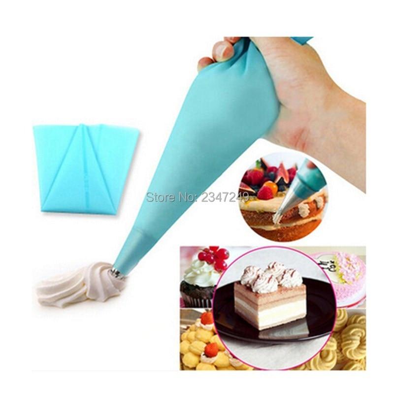 1 قطعة سيليكون قابلة لإعادة الاستخدام الأنابيب كريم كريم المعجنات حقيبة أدوات تزيين الحلوى كعكة كب كيك