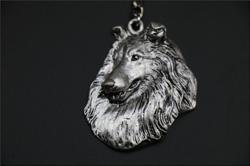Шероховатая собака ожерелье ручной работы брелок рельефная подвеска