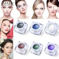 6 Colors Waterproof Long Lasting Glitter Eyeshadow Cream Mulfunctional Make Up Set 2