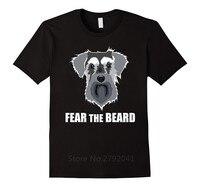 2018 Fashion T Shirt Promotion O Neck Design Short Sleeve Dog Pet Fear The Beard T